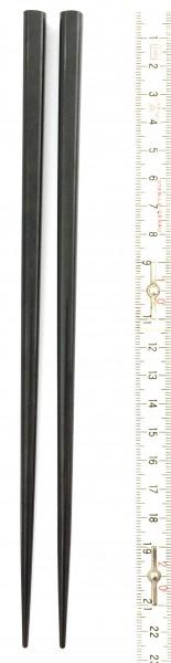 Stäbchen blanko schwarz L 22,5 cm hochglänzend, 1 Paar