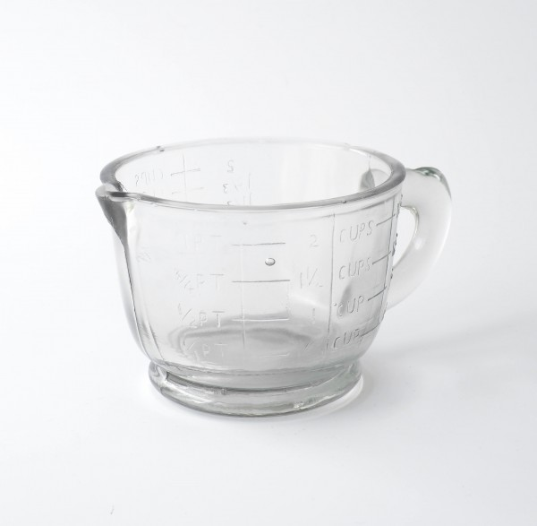 Messbecher Messglas Glas 2 cups