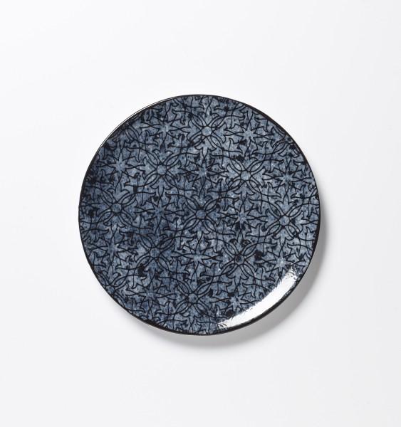 Frühstücksteller blaues Muster auf blauem Teller ø 20 cm