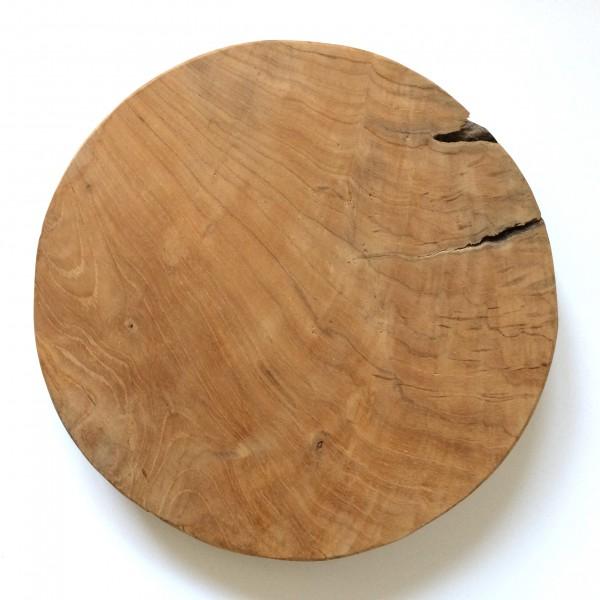 Schneidebrett, Küchenbrett, Holz, braun, rund ø ca. 29cm