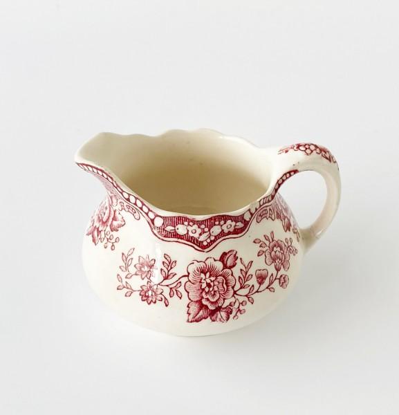 """kleines Milchkännchen, Porzellan, weiß mit rotem Blumen """"Bristol No 762055"""""""