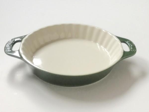 Tarteform Tarte basilikumgrün grün glänzend Keramik