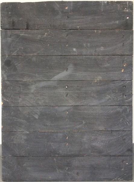 L 89,5 cm B 65,5 cm Untergrund, Holz, used, einseitig schwarz gestrichen | Lattung parallel zu kurze