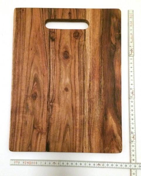 Schneidebrett Holz L 33 cm B 25 cm H 1,5 cm Akazie
