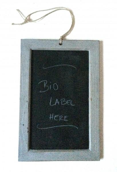 Tafel, Schiefer mit grauem Holzrand, vintage