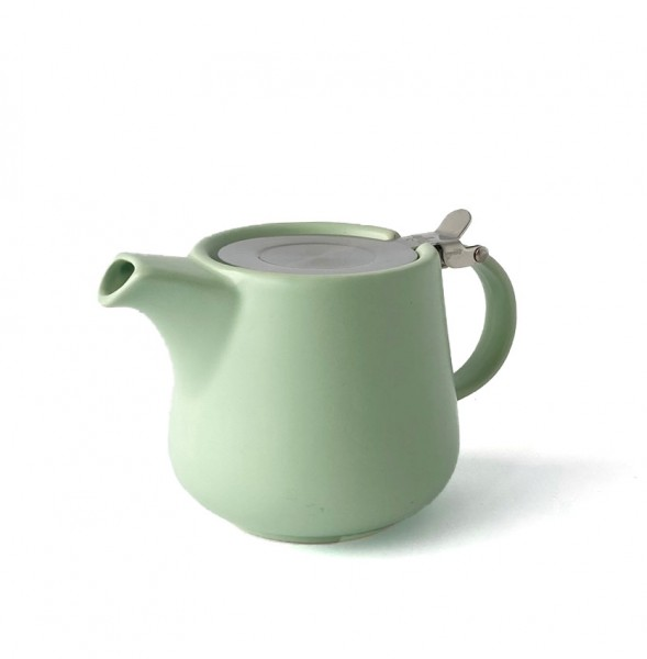 Teekanne, Kanne, Porzellan, mint grün matt 600ml inkl. Teesieb