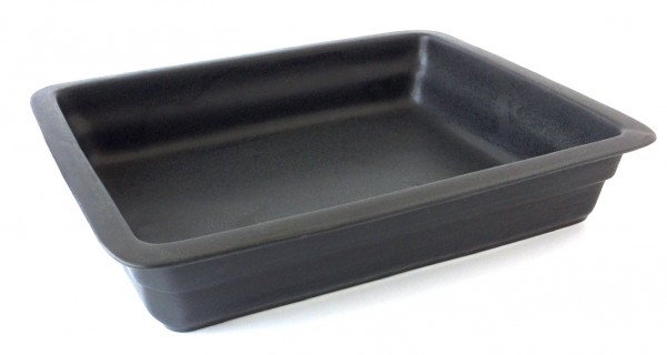 Auflaufform 32x20 cm H 6 cm rechteckig Keramik schwarz