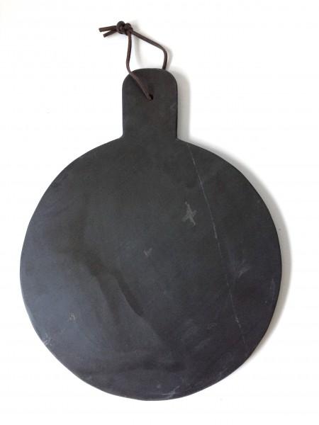 Schneidebrett, Küchenbrett, Granit, rund, schwarz, ø 28 cm
