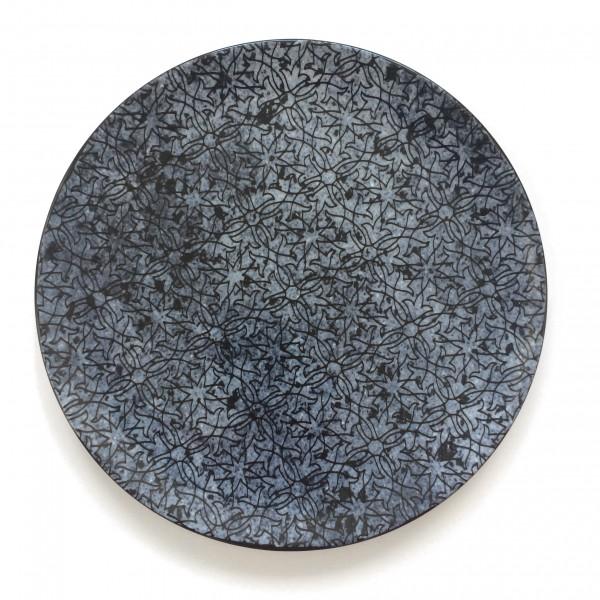 Teller Speiseteller blau weiß glänzend ø 28 cm