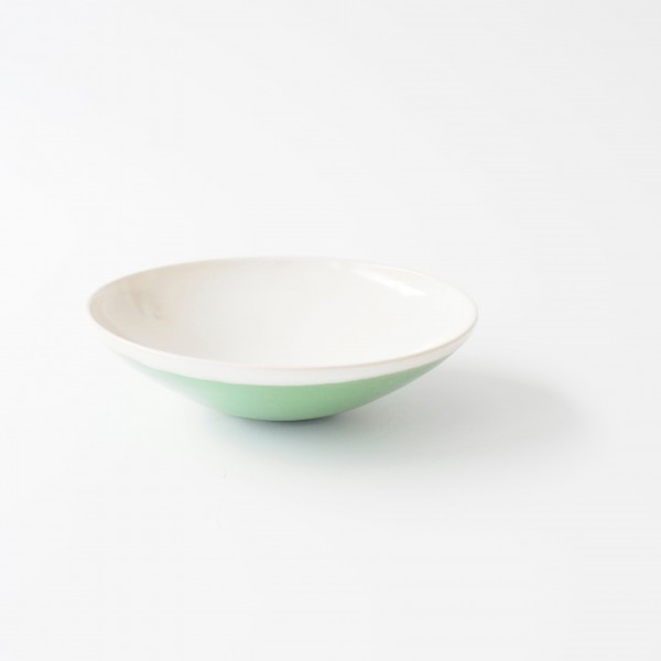 Schale Müslischale ø 17 cm H 5 cm innen weiß außen grün