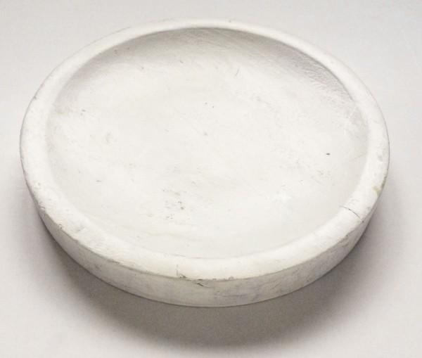 Schneidebrett weiß angestrichen rund ø 17,5 cm H 2,4 cm
