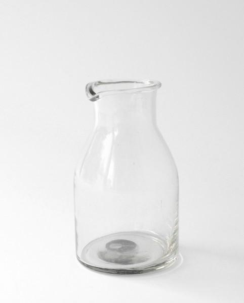 kleine Karaffe Glas H 14 cm ø 5,5 cm