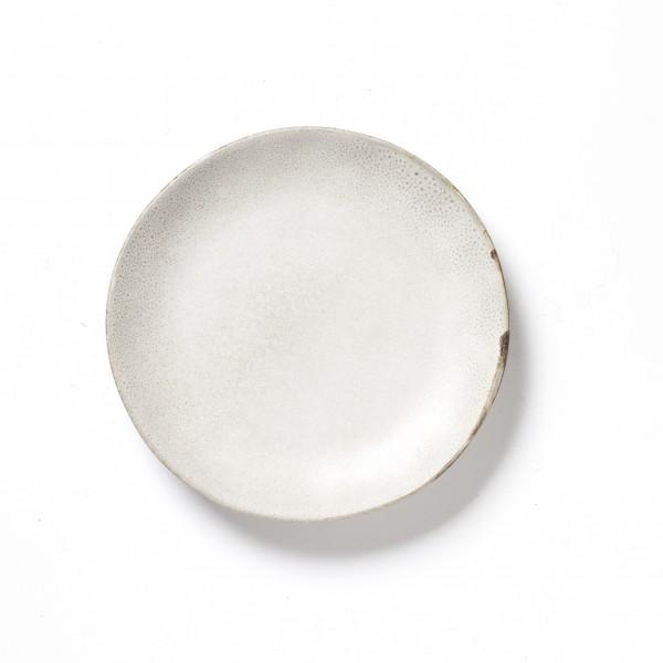 Teller ø 16,5 cm beige grau unregelmäßig matt