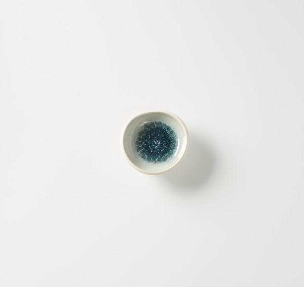 Tellerchen ø ca. 10 cm, Steinzeug innen glasiert, H ca. 3 cm creme aquamarine