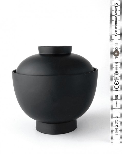 Schale mit Deckel ø 11 cm H 11,5 cm mit Deckel Asia schwarz