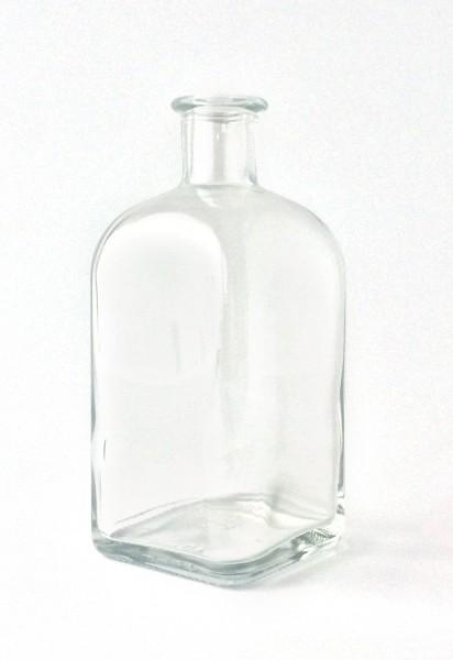 Flasche H 16,7 cm B 7 x 7 cm Vase Glas