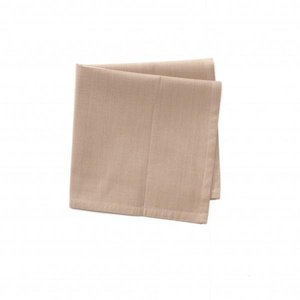 Serviette Baumwolle beige hellbraun unifarben 42 x 42cm