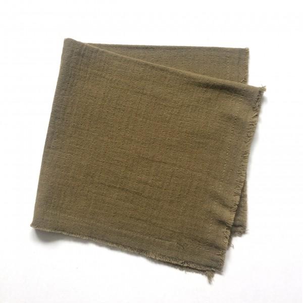 Serviette 40 x 40 cm, olive, Baumwolle doppelt gewebt mit Fransenrand