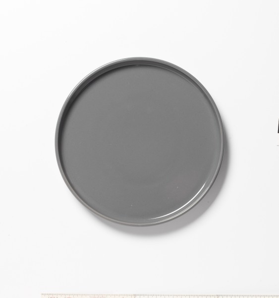 Frühstücksteller grau glänzend ø 20 cm