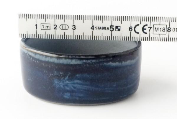 kleine Schale Dipschale ø 6 cm blau hellblaugrau glänzend oval