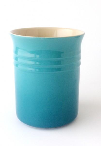 Aufbewahrungsgefäß H 15 cm karibik blau Steinzeug