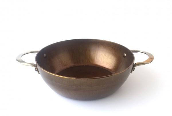Bratpfanne, Eisen, silber rund, ø ca. 24 cm used