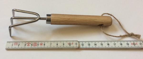 Garten kleine Harke L 16,7 cm Holzgriff Eiche