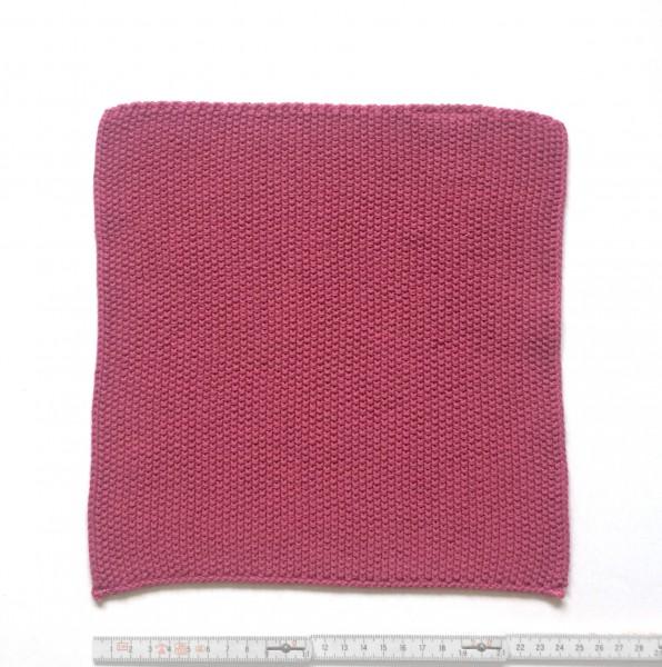 Topflappen Tuch feiner gestrickt 25 x 25 cm rosa altrosa