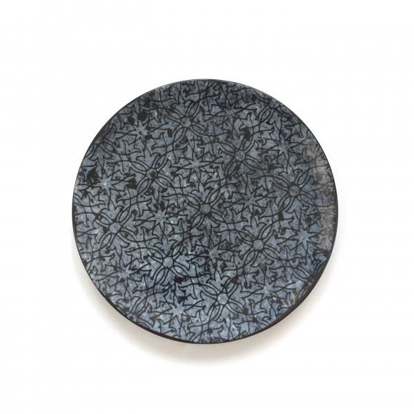 Teller Frühstücksteller blau weiß glänzend ø 20 cm