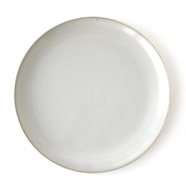 Teller ø 25,5 cm weiß hellgrau Steingut