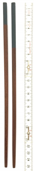 Stäbchen braun mit dunkel grauem Teillack L 25 cm eckig 1 Paar
