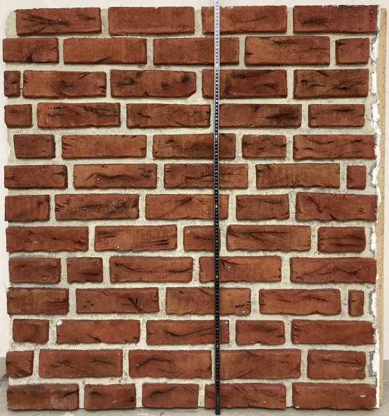 Hintergrund Backsteinwand H 1,16 m x L 1,07 m Setbau Steine aus Styropor rot (Teil 1 von 2)