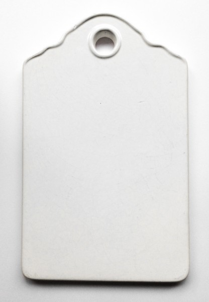 Frühstücksbrett mit Loch LxBxH 24x 15 x 1 cm, weiß porzellan rechteckig