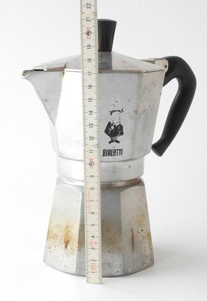 Espressokanne 6 Tassen silber Aluminium vintage gebraucht