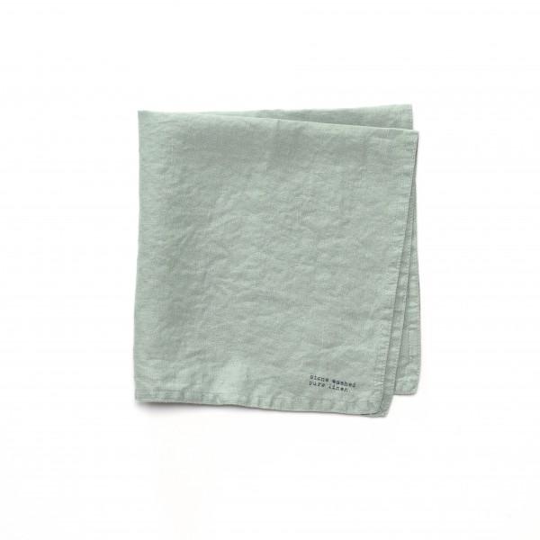 Serviette Leinen grau-grün 45 x 45 cm