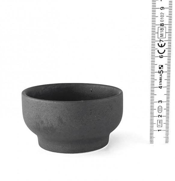 Minischale schwarz matt
