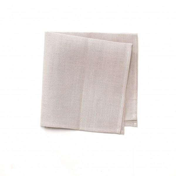 Serviette Leinen beige unifarben 44,5 x 44,5 cm