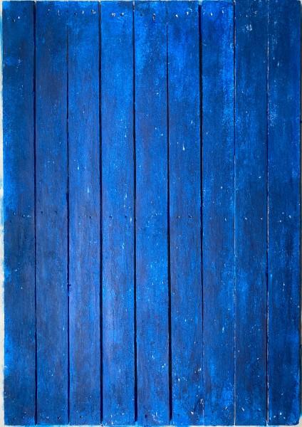L 100 cm x B 70 cm kleiner Untergrund, Holz 1 Seite blau marine, 1 Seite weiß grün