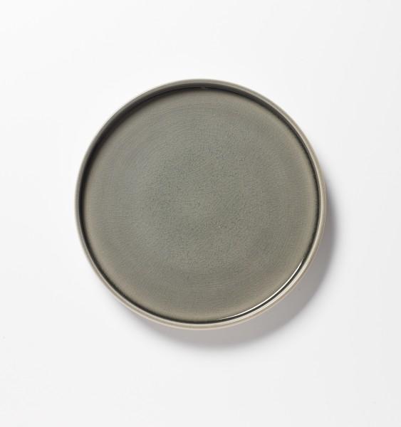Frühstücksteller grün geplatzte Glasur ø 21 cm