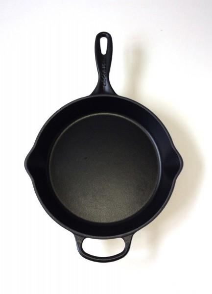 Pfanne, Servierpfanne, Gusseisen, schwarz, ø ca. 28 cm