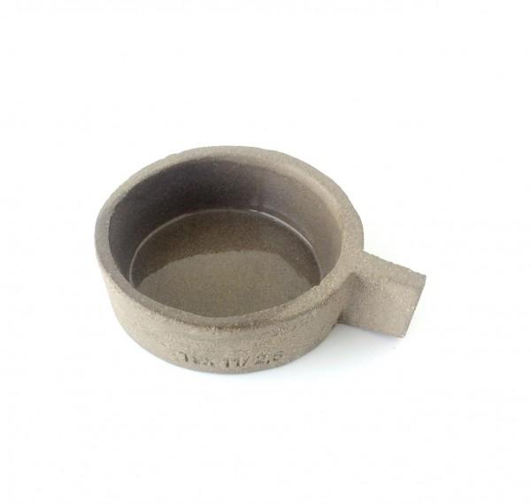 Schale flach ø 11 cm grau Beton Zement FCK