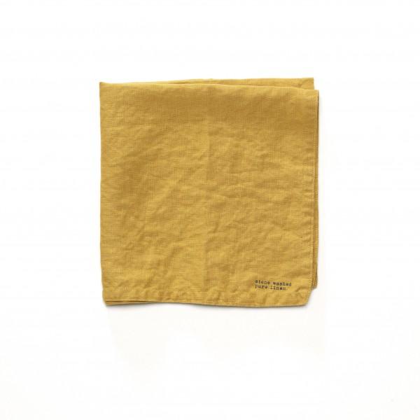 Serviette Leinen curry gelb 45 x 45 cm