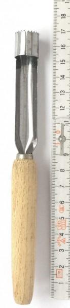 Ausstecher Kerngehäuse L 16,5 cm Edelstahl mit Holzgriff, vintage