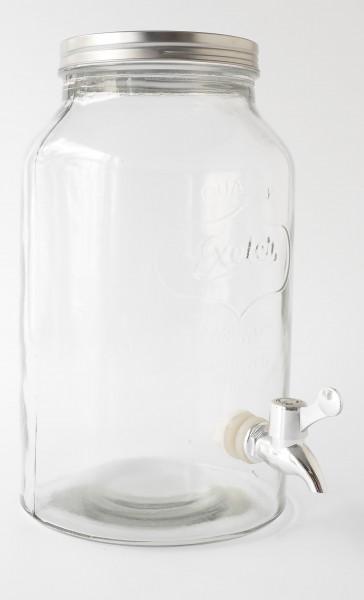 Wasserspender Getränkespender Glas mit Schraubverschluss 5L !Artikel sieht ähnlich aus!
