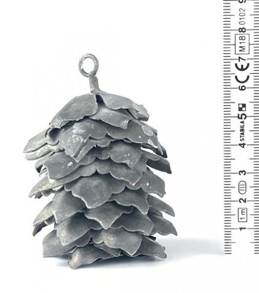 Tannenzapfen Metall H 7,5 cm ø ca. 5,5 cm