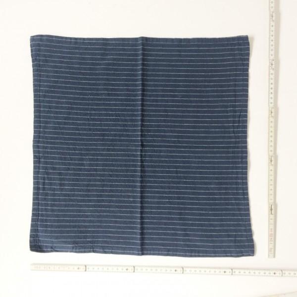 Serviette dunkelblau mit weißen Streifen 45 x 45 cm