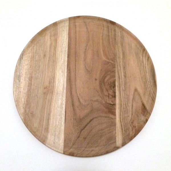 Schneidebrett Holzteller rund ø 25 cm