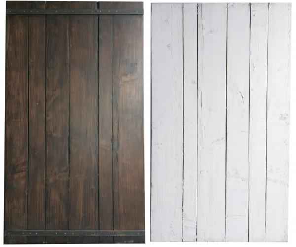 L 140 cm x B 82 cm Untergrund, Holz used, braun, Rückseite weiß