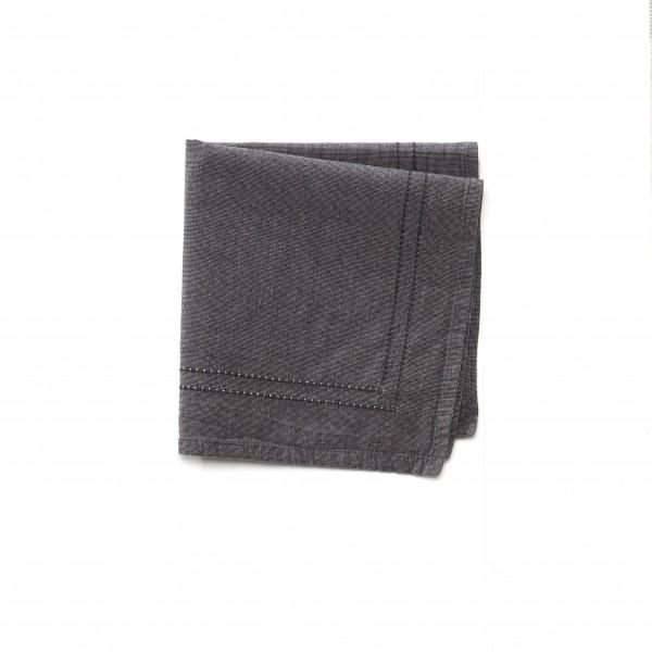 Serviette Leinen schwarz grau 37 x 37 cm