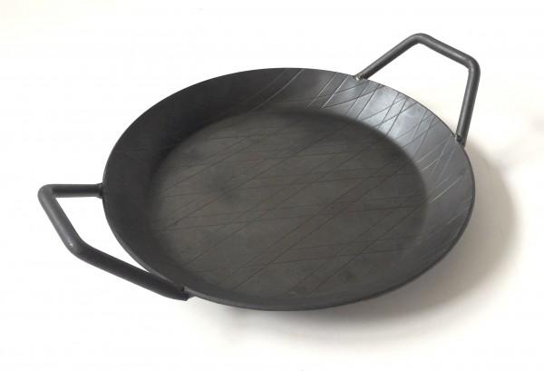 Bratpfanne, Eisen, schwarz rund, ø ca. 24 cm